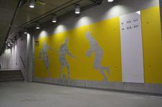 Aviva Stadium Signage on Behance | visual communication. typography. environmental design. graphic design.