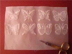 creatief besparen en meer: Vlinders maken van kalkpapier