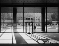 Seagram building foyer - looking out