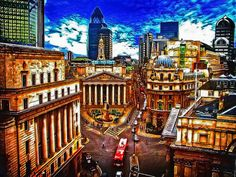 'Royal Exchange, London' by Kelly Love on artflakes.com as poster or art print $16.63 #PinoftheDay #london #art #streetphotography #photography