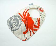Baby Bib/  Toddler Bib / Crab Bake Bib / Crab / by TextileTrolley, $10.00
