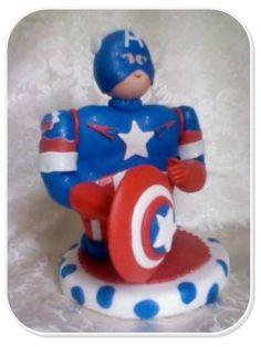Capitan America, hecho en masa flexible.