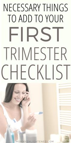 Congrats on your new pregnancy! Here is a list of all of the essential things you need to do and be aware of in the first trimester of pregnancy!