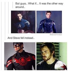 Ooooohhhhh << I can't think of a worse fate for Steve Rogers than to be a brainwashed Hydra assassin.