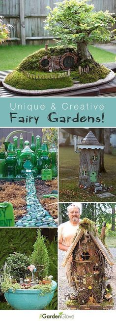 Unique and Creative Fairy Gardens • Lots of Tips and Ideas! #miniaturefairygardens