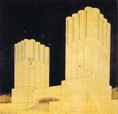 Mario Chiattone, futurist architecture (1910s)