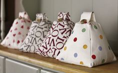 Emma Bridgewater Fabric Door stop Doorstop Handmade in Polka Dot Multi / Plum…