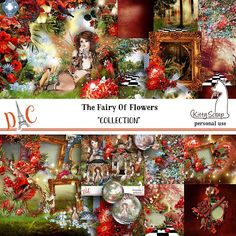 Collection the fairy of flowers de kittyscrap