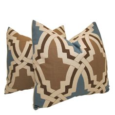 $65 Free US Shipping-Pair of Decorative Designer Pillow Covers-Emphatic Trellis By Highland Court-18 inch