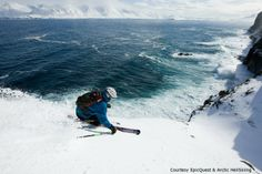 EpicQuest and Arctic HeliSkiing offer adventures that include aerial views of the Iceland landscape before skiing straight down to the beach.EpicQuest and Arctic HeliSkiing
