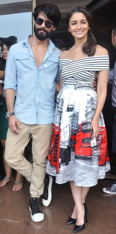Shahid Kapoor and Alia Bhatt promoting #Shaandaar at the 'Tourism in Britain' promo event. #Bollywood #Fashion #Style #Beauty #Handsome