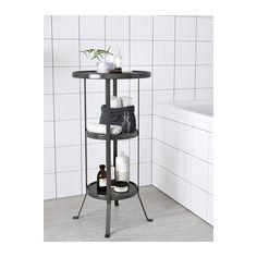 GUNNERN Pedestal table - grey - IKEA