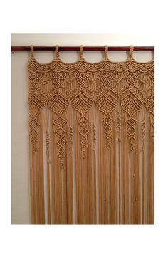 Macrame Curtain,HANDMADE. Large macrame.Macrame wall hanging. Doorway curtain.