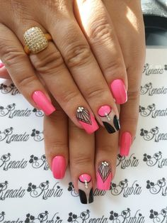 Nail Arts, Orange Color, Nail Designs, Polish, Acrylics, Pink, Beauty, Projects, Nail Design