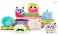 Decorate everything with have-to-have pom-poms! Justice Accessories, Claire's Accessories, Justice School Supplies, Watermelon Girl, Justice Store, Trendy Purses, Mini Backpack Purse, 9th Birthday, Girls Bags