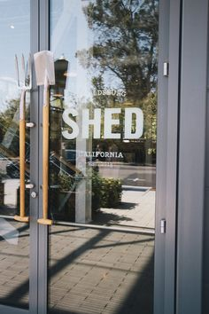 SHED - Healdsburg, CA, United States Menu Restaurant, Restaurant Design, Healdsburg Shed, Environment, United States, Branding, Retail, Neon Signs, Shipping Containers