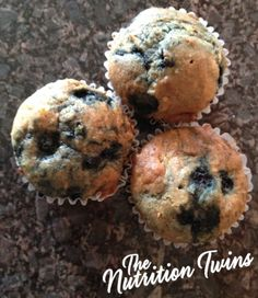 Whole Wheat Blueberrilicious Coconut Muffins | Only 116 Calories! | Guilt free, Great Treat for Weight Loss | For MORE RECIPES please SIGN UP for our FREE NEWSLETTER www.NutritionTwins.com