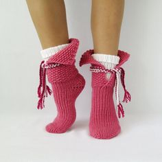 Autumn socks & scarf. Women's socks. Hand knit by mymomsshop1