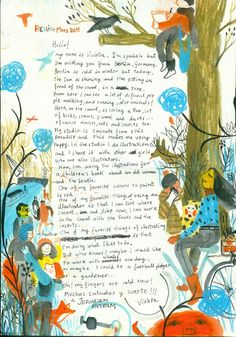 A letter to the Youth Wing from illustrator Violeta Lopiz