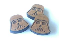 8 Pieces. Laser Cut Cherrywood Vader shapes. Craft Supplies.  DIY Supplies by LittleLaserLab on Etsy https://www.etsy.com/listing/268136279/8-pieces-laser-cut-cherrywood-vader