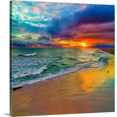 Square image of a colorful swirling sunset. Colorful Seascape-Swirling Multi Color Sunset Wall Art by Eszra Tanner from Great BIG Canvas. Acrylic Wall Art, Canvas Wall Art, Wall Art Prints, Framed Prints, Canvas Prints, Big Canvas, Sunset Colors, Pink Sunset, All Nature
