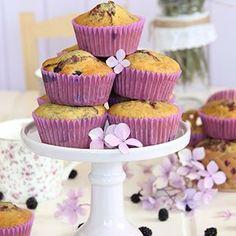 Muffins de mora otra nueva receta hecha con moras ahellip
