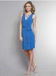 New York & Company - Dresses & Skirts - Geometric Print Sleeveless Wrap Dress