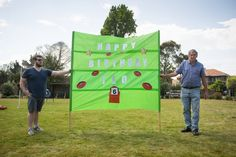 What a cool idea for a afl kids birthday party. A banner for the birthday boy or girl to run through. Football Birthday Cake, 13 Birthday, Birthday Parties, Ranger 2018, Sports Party, Party Venues, West Coast, Party Invitations, 30th