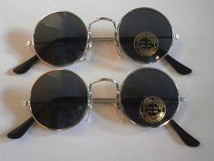 set of 2 sunglasses with round lenses glasses retro hippie goa style 70s new n2