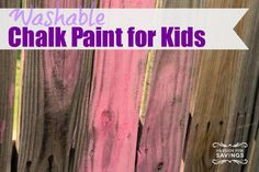 Washable Chalk Paint for Kids
