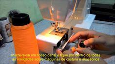 Excelente dica! Urilização de fio de overlock na bobina da máquina de costura doméstica para costura em tecidos elásticos