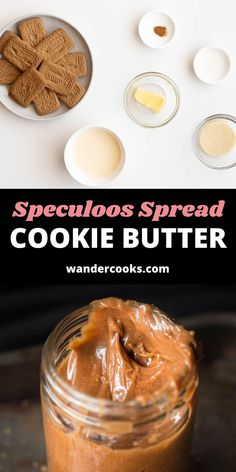 Just 5 ingredients and less than 5 minutes are all you need for your very own jar of liquid gold. This Easy Speculoos Spread Recipe is sweet, delicious and oh-so-satisfying, packed with caramelised gingerbread flavours in an easy to spread cookie butter. Speculoos Spread Recipe, Speculoos Cookie Butter, Butter Cookies Recipe, Dessert Games, Cooking Cookies, Favorite Cookie Recipe, Liquid Gold, Sugar Cravings, World Recipes