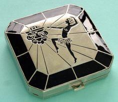 Art Deco compact.