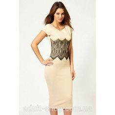 Элегантное платье ниже колен