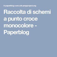 Raccolta di schemi a punto croce monocolore - Paperblog