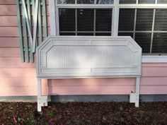 FAUX BAMBOO QUEEN Size Headboard White  by agelessalchemy on Etsy
