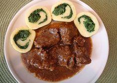 Hovězí kližka na česneku s bramborovou roládou recept - TopRecepty.cz Beef, Food, Meat, Essen, Meals, Yemek, Eten, Steak