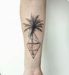 在你人生过程中,总会有一样东西一直更随着你,直到被发现。 #tattoo #ink #palmtree #palmtreetattoo #scenerytattoo #geometric #bluetattoo #jeffchewtattoo #malaysiatattoo #blxckink #treetattoo #blacktattoo #finelinetattoo