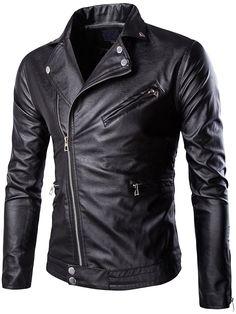 Neleus Men's Classic Leather Motorcycle Jacket at Amazon Men's Clothing store: