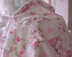 shabby chic quilts and comforters | Shabby Chic Bedding, Shabby Chic Quilt, Shower Curtain, Pillows, Beach ...