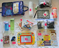 How To Entertain A Toddler On An Airplane Flight - Free Checklist,Tips for how to entertain a toddler on a flight. How to pack the perfect carry on bag (including an in-flight entertainment case) to keep your toddler. Toddler Plane Travel, Toddler Travel Activities, Airplane Travel, Travel With Kids, Baby Travel, Travel Toys For Toddlers, Infant Activities, Travel Checklist, Travel Tips