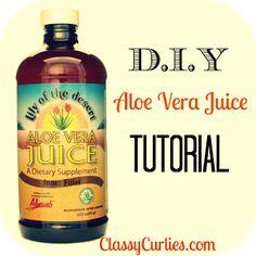 Natural Hair Care: D.I.Y. Aloe Vera Juice Tutorial