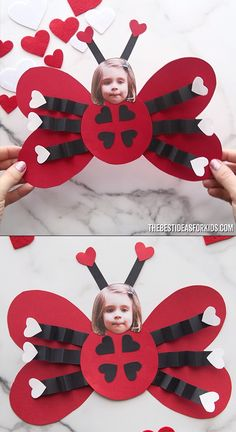 Love Bug Ladybug Valentine - such a cute Valentine's day card or Valentine's day craft for kids! An easy love bug Valentine ladybug craft for kids! Includes a free printable template to make it. You can even turn this into a Valentine card. Valentine Love, Kinder Valentines, Valentine Crafts For Kids, Mothers Day Crafts, Valentines For Kids, Valentines Day Quotes For Him, Valentines Day Desserts, Arts And Crafts For Kids Toddlers, Toddler Crafts