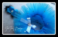Tiffany inspired headband and tutu set by Two Tiara's Bowtique on Etsy or Facebook group Tiffany & Co first birthday