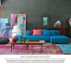living room by Patricia Urquiola | sala de estar #decor #urquiola #sala