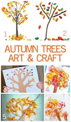 Fun & Exciting Autumn Tree Art and Craft Ideas for Children. - Fall Crafts For Toddlers Halloween Crafts For Toddlers, Toddler Crafts, Crafts For Kids, Arts And Crafts, Preschool Projects, Toddler Fun, Preschool Activities, Art Projects, Harvest Crafts