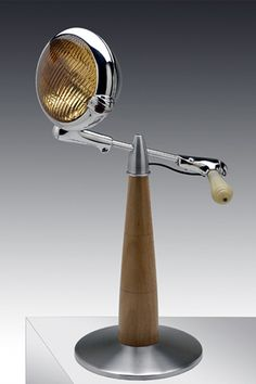 Car post mount light as a table lamp