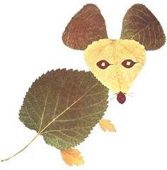 Animals created with fall leaves. gilbertDIY.wordpress.com pinterest.com/gilbertDIY