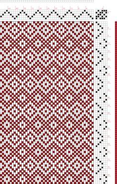 Hand Weaving Draft: Plate Figure Dictionary of Weaves Part I by E. Weaving Art, Loom Weaving, Hand Weaving, Basket Weaving Patterns, Loom Patterns, Rug Loom, Tapestry Loom, Weaving Designs, Weaving Techniques