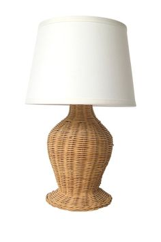 Large rattan table lamp tanjore rattan bedrooms and pool houses sale vintage wicker table lamp aloadofball Images